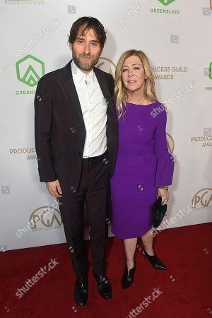 Jeremy Kleiner, Dede Gardner. Jeremy Kleiner, left, and Dede Gardner arrive at the 31st Annual Producers Guild Awards at the Hollywood Palladium, in Los Angeles