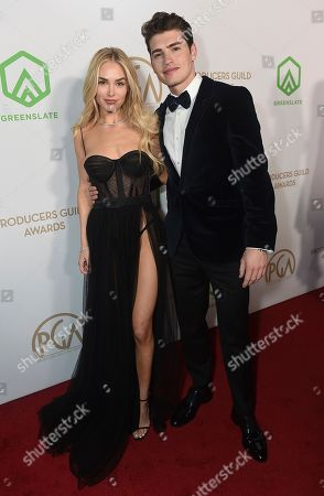 Michelle Randolph, Gregg Sulkin. Michelle Randolph, left, and Gregg Sulkin arrive at the 31st Annual Producers Guild Awards at the Hollywood Palladium, in Los Angeles