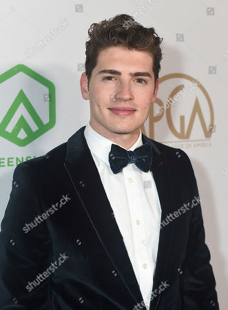Gregg Sulkin arrives at the 31st Annual Producers Guild Awards at the Hollywood Palladium, in Los Angeles