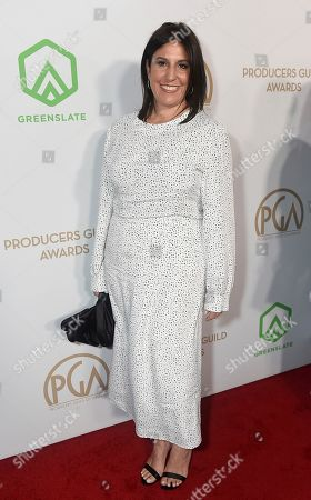 Pilar Savone arrives at the 31st Annual Producers Guild Awards at the Hollywood Palladium, in Los Angeles