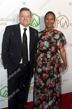 Ted Sarandos, Nicole Avant. Ted Sarandos, left, and Nicole Avant arrive at the 31st Annual Producers Guild Awards at the Hollywood Palladium, in Los Angeles