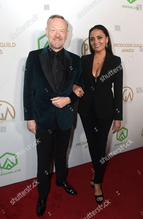 Jared Harris, Allegra Riggio. Jared Harris, left, and Allegra Riggio arrive at the 31st Annual Producers Guild Awards at the Hollywood Palladium, in Los Angeles