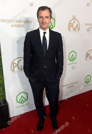 David Heyman arrives at the 31st Annual Producers Guild Awards at the Hollywood Palladium, in Los Angeles