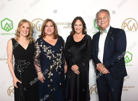 Susan Sprung, Gail Berman, Lucy Fisher, Vance Van Petten. PGA National Executive Director and COO Susan Sprung, from left, PGA President Gail Berman, PGA President Lucy Fisher, and PGA National Executive Director and COO Vance Van Petten arrive at the 31st Annual Producers Guild Awards at the Hollywood Palladium, in Los Angeles