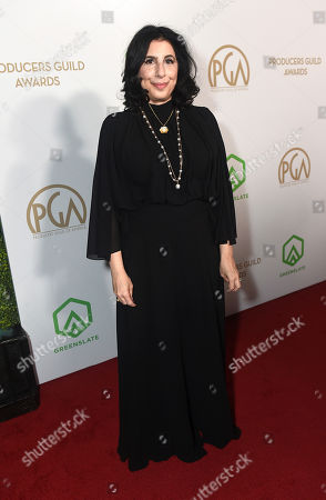 Sue Kroll arrives at the 31st Annual Producers Guild Awards at the Hollywood Palladium, in Los Angeles