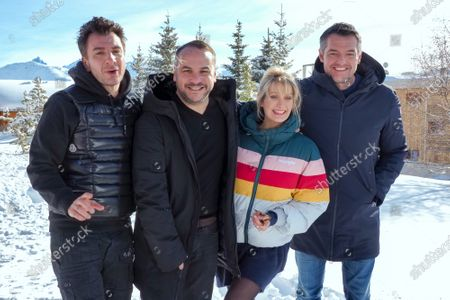 Mickael Youn, Francois-Xavier Demaison, Caroline Anglade and Arnaud Ducret