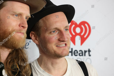 Wesley Schultz, Jeremiah Fraites. Wesley Schultz and Jeremiah Fraites of The Lumineers attend the 2020 iHeartRadio ALTer Ego concert at the Forum on in Inglewood. Calif