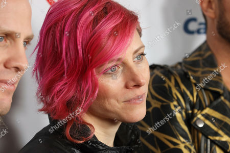 Stock Picture of Elaine Bradley of the band Neon Trees attend the 2020 iHeartRadio ALTer Ego concert at the Forum on in Inglewood. Calif