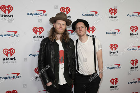 Wesley Schultz, Jeremiah Fraites. Wesley Schultz, left, and Jeremiah Fraites of The Lumineers attend the 2020 iHeartRadio ALTer Ego concert at the Forum on in Inglewood. Calif