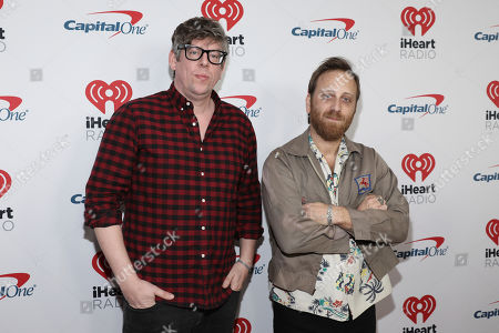 Patrick Carney, Dan Auerbach. Patrick Carney and Dan Auerbach of the Black Keys attend the 2020 iHeartRadio ALTer Ego concert at the Forum on in Inglewood. Calif