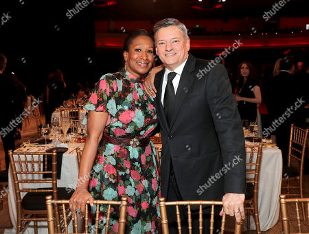 Nicole Avant, Ted Sarandos. Nicole Avant, left, and Ted Sarandos attend the 31st Annual Producers Guild Awards at the Hollywood Palladium, in Los Angeles