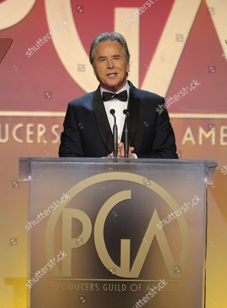 Don Johnson speaks at the 31st Annual Producers Guild Awards at the Hollywood Palladium, in Los Angeles