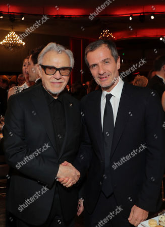 Harvey Keitel, David Heyman. Harvey Keitel, left, and David Heyman attend the 31st Annual Producers Guild Awards at the Hollywood Palladium, in Los Angeles