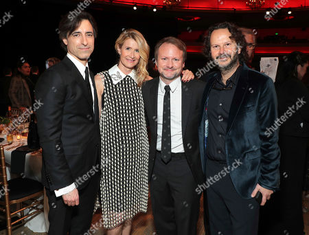 Noah Baumbach, Laura Dern, Rian Johnson, Ram Bergman. Noah Baumbach, from left, Laura Dern, Rian Johnson, and Ram Bergman attend the 31st Annual Producers Guild Awards at the Hollywood Palladium, in Los Angeles