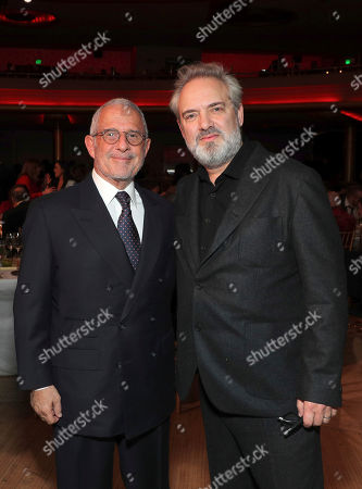 Ron Meyer, Sam Mendes. Ron Meyer, left, and Sam Mendes attend the 31st Annual Producers Guild Awards at the Hollywood Palladium, in Los Angeles