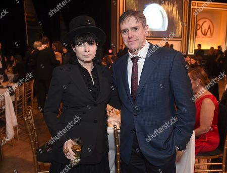Amy Sherman-Palladino, Daniel Palladino. Amy Sherman-Palladino, left, and Daniel Palladino attend the 31st Annual Producers Guild Awards at the Hollywood Palladium, in Los Angeles