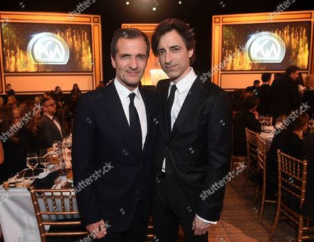 David Heyman, Noah Baumbach. David Heyman, left, and Noah Baumbach attend the 31st Annual Producers Guild Awards at the Hollywood Palladium, in Los Angeles