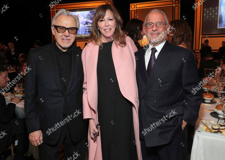 Harvey Keitel, Jane Rosenthal, Ron Meyer. Harvey Keitel, from left, Jane Rosenthal, and Ron Meyer attend the 31st Annual Producers Guild Awards at the Hollywood Palladium, in Los Angeles