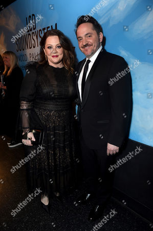 Stock Photo of Melissa McCarthy, Ben Falcone. Melissa McCarthy, left, and Ben Falcone attend the 31st Annual Producers Guild Awards at the Hollywood Palladium, in Los Angeles