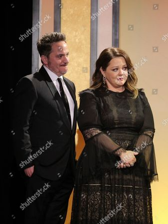 Ben Falcone, Melissa McCarthy. Ben Falcone and Melissa McCarthy at the 31st Annual Producers Guild Awards at the Hollywood Palladium, in Los Angeles
