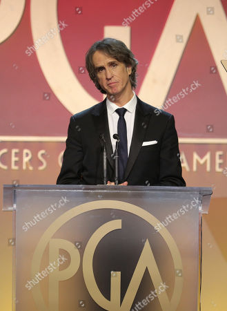 Jay Roach accepts the Stanley Kramer Award at the 31st Annual Producers Guild Awards at the Hollywood Palladium, in Los Angeles