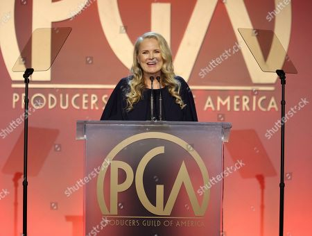 2020 Producers Guild Awards Executive Producer Suzanne Todd speaks at the 31st Annual Producers Guild Awards at the Hollywood Palladium, in Los Angeles