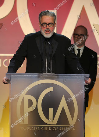 Adam McKay accepts the Norman Felton award for outstanding producers of episodic television - drama the 31st Annual Producers Guild Awards at the Hollywood Palladium, in Los Angeles