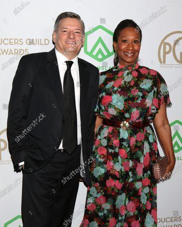 Ted Sarandos and Nicole Avant