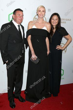 AJ Dix, Charlize Theron, Beth Kono