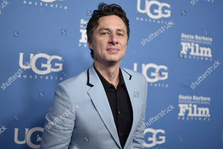 Zach Braff attends the 2020 Santa Barbara International Film Festival Virtuosos Award, in Santa Barbara, Calif