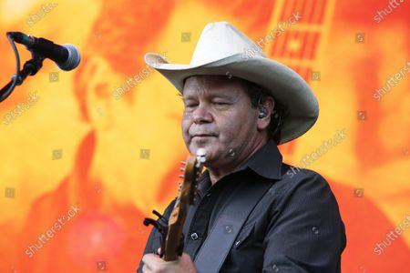 Troy Cassar-Daley performs during Cold Chisel's The Blood Moon Tour 2020 at the Tamworth Country Music Festival, in Tamworth, New South Wales, Australia, 19 January 2020. Australia's largest music festival runs from 17 to 26 January 2020.