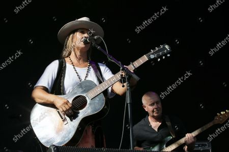 Kasey Chambers performs during Cold Chisel's The Blood Moon Tour 2020 at the Tamworth Country Music Festival, in Tamworth, New South Wales, Australia, 19 January 2020. Australia's largest music festival runs from 17 to 26 January 2020.