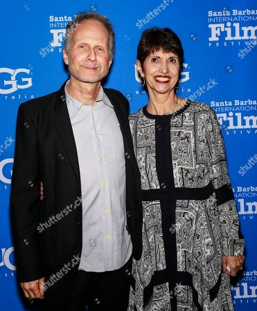 Stock Photo of Diane Foley and Niels Arden Oplev