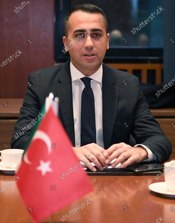 Italian Minister for Foreign Affairs Luigi Di Maio during a meeting with his Turkish counterpart Cavusoglu in Berlin, Germany, 19 January 2020, on the sidelines of the International Libya Conference. The summit, which takes place in Berlin and sees the participation of various world leaders, including Internationally-recognized Prime Minister Fayez al-Serraj and renegade General Khalifa Haftar, will try to begin a process to reconcile the two Libyan rival leaders.