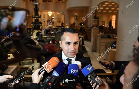 Italian Minister for Foreign Affairs Luigi Di Maio during a press conference after a meeting with Egyptian Minister for Foreign Affairs Sameh Shoukry in Berlin, Germany, 19 January 2020, on the sidelines of the International Libya Conference. The summit, which takes place in Berlin and sees the participation of various world leaders, including Internationally-recognized Prime Minister Fayez al-Serraj and renegade General Khalifa Haftar, will try to begin a process to reconcile the two Libyan rival leaders.