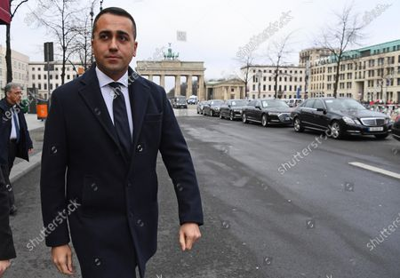 Italian Minister for Foreign Affairs Luigi Di Maio leaves after a meeting with Egyptian Minister for Foreign Affairs Sameh Shoukry in Berlin, Germany, 19 January 2020, on the sidelines of the International Libya Conference. The summit, which takes place in Berlin and sees the participation of various world leaders, including Internationally-recognized Prime Minister Fayez al-Serraj and renegade General Khalifa Haftar, will try to begin a process to reconcile the two Libyan rival leaders.