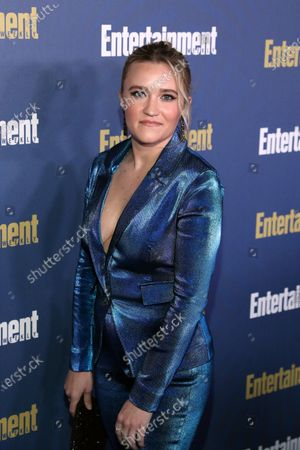 Stock Image of Emily Osment poses on the red carpet at the Chateau Marmont for the Entertainment Weekly celebration hosting nominees for the Screen Actors Guild Awards in Los Angeles, California, USA, 18 January 2020. The SAG Awards will be presented 19, January 2020.