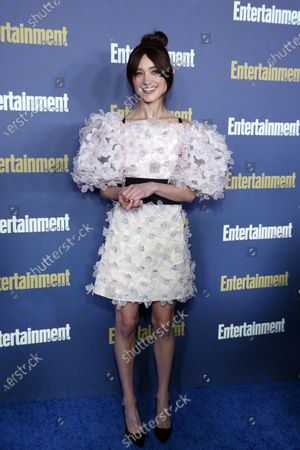 Natalia Dyer poses on the red carpet at the Chateau Marmont for the Entertainment Weekly celebration hosting nominees for the Screen Actors Guild Awards in Los Angeles, California, USA, 18 January 2020. The SAG Awards will be presented 19, January 2020.