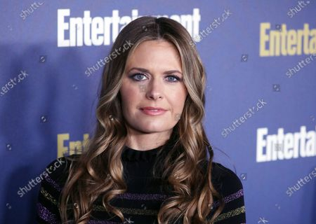 Stock Picture of Maggie Lawson poses on the red carpet at the Chateau Marmont for the Entertainment Weekly celebration hosting nominees for the Screen Actors Guild Awards in Los Angeles, California, USA, 18 January 2020. The SAG Awards will be presented 19, January 2020.