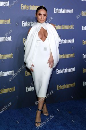 Francia Raisa poses on the red carpet at the Chateau Marmont for the Entertainment Weekly celebration hosting nominees for the Screen Actors Guild Awards in Los Angeles, California, USA, 18 January 2020. The SAG Awards will be presented 19, January 2020.