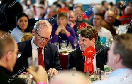 Munster vs Ospreys. TD Simon Coveney and Munster Rugby CEO Ian Flanagan ahead of the game
