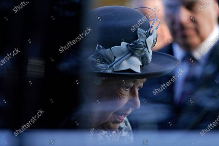 Britain's Queen Elizabeth II leaves after a service at St Mary the Virgin church, Hillington, Norfolk, Britain 19 January 2020. Buckingham Palace announced yesterday that Prince Harry, Duke of Sussex and Meghan, Duchess of Sussex will have their royal titles removed as they step back from royal duties.