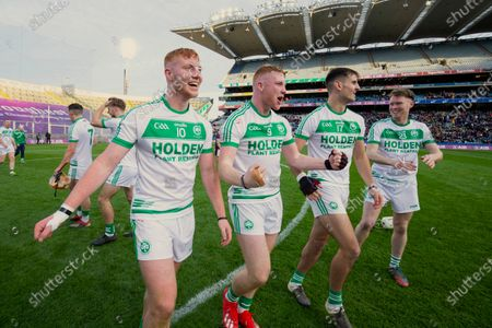 Ballyhale Shamrocks vs Borris-Ileigh. Adrian Mullen, Patrick Mullen, Brian Butler and Conor Walsh celebrate after the game