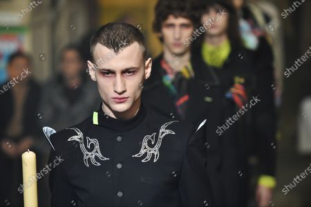 Models present creations from the Fall/ Winter 2020/21 Ready to Wear collection by Spanish designer Alejandro Gomez Palomo for Palomo Spain fashion house during the Paris Fashion Week, in Paris, France, 19 January 2020. The presentation of the men's collections runs from 14 to 19 January.