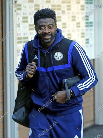 Leicester City first team coach Kolo Toure arrives at Turf Moor before the game