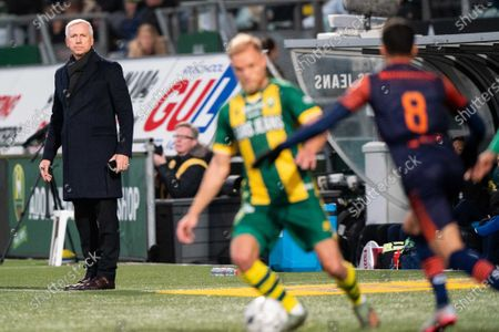 Stock Photo of Alan Pardew, head coach of ADO The Hague, during the Dutch Eredivisie match between ADO The Hague and RKC Waalwijk at Cars Jeans stadium on January 19, 2020 in The Hague, The Netherlands.