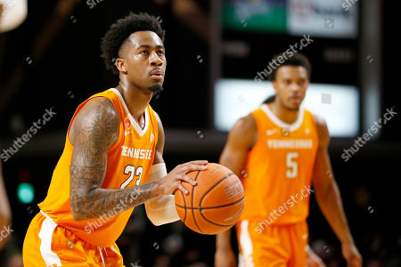 Tennessee guard Jordan Bowden (23) plays against Vanderbilt in the second half of an NCAA college basketball game, in Nashville, Tenn. Tennessee won 66-45