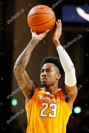 Tennessee guard Jordan Bowden plays against Vanderbilt in the first half of an NCAA college basketball game, in Nashville, Tenn