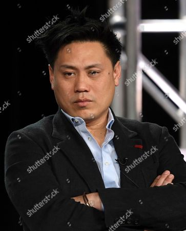 "Jon M. Chu speaks at the ""Home Before Dark"" panel during the Apple+ TCA 2020 Winter Press Tour at the Langham Huntington, in Pasadena, Calif"