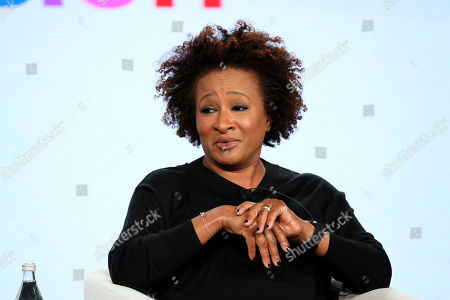 """Wanda Sykes speaks at the """"Visible: Out on Television"""" panel during the Apple+ TCA 2020 Winter Press Tour at the Langham Huntington, in Pasadena, Calif"""